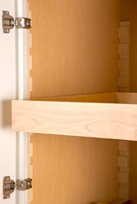 Adjustable Roll-Out Shelves on Wood Standards